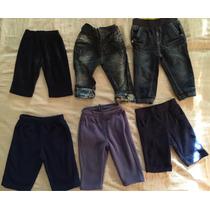 Lote 6 Pantalones Para Bebés Jeans Y Polar 3 A 9 Meses.