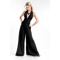 Vestido Pantalon Palazzo Mono Multiuso Seda Fria S M L Xl