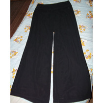 Pantalon De Gasa Palazzo Negro