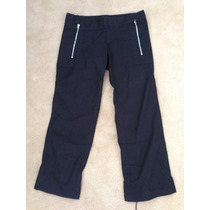Pantalon Capri Mujer Jazmin Chebar Negro Talle 2