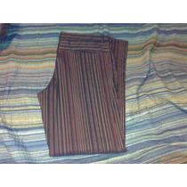 Pantalon De Vestir Rayado Moderno Ona Saez Como Nuevo Xl