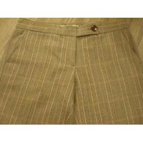 Pantalón De Vestir Chocolate - Diseño Príncipe De Gales T: S