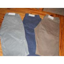 Pantalones De Gabardina Le Uthe Dos Colores Talle 40 Y 42