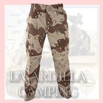 Pantalon Cargo Tactico Militar Camuflado Desert Storm