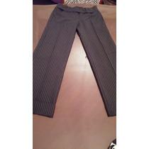 Pantalon Ancho De Vestir Cintura Cruzada Con Botamanga T 2