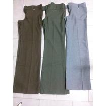 Lote 3 Pantalones De Vestir De Gabardina Talle 4 Nuevos