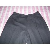 Pantalon De Lana Yagmour Gris Oscuro Talle 44 Usado
