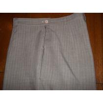 Pantalon Beige Con Rayas Blancas
