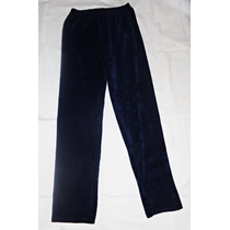 Pantalón Calza Corderoy Azul Elastizado Talle Grande Recto!