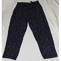 Pantalon Recto Estampado Fibrana Gorditas Largo Talle Grande