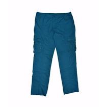 Pantalon Cargo Hombre De Gabardina 60% Off Solo Color Cyan