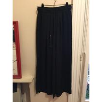 Pantalón Pollera Palazo Zara De Vestir Con Cordón Sin Uso