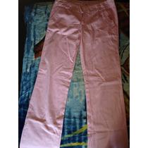 Pantalón De Gabardina Color Rosa