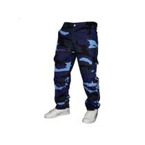 Pantalones Cargo Camuflados Gabardina Hombre