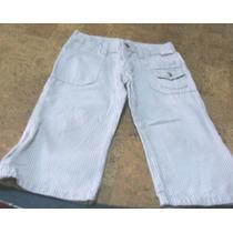 Pantalon Rayado Blanco Y Gris Para Nena. (marca Cheeky)