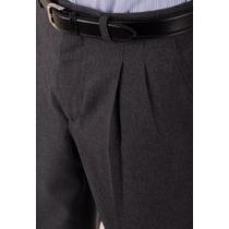 Pantalón De Vestir Pinzado 38 Al 80 Tela Tropical Macanico.