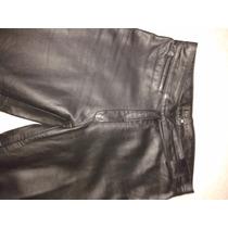 Pantalon Jean Mujer De Cuero Semi Oxford Reza Duro
