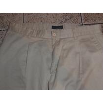 Pantalon Largo De Gabardina Vestir Casual Zara Importado