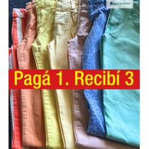 Oferton! Pantalon Chupin De Gabardina 3x1