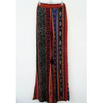Pantalón Mujer Palazzo De Bambula Hindú Arabescos