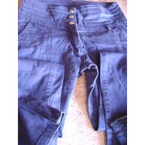 Hermoso Pantalon Azul C/ Bolsillos Y Cierre En Botamanga T 1
