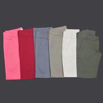 Pantalones Gabardina Semi Elastizados, Mayor Y Menor, Mujer