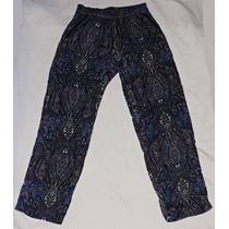 Pantalon Fibrana Estampada Gorditas Largo Suave Talle Grande