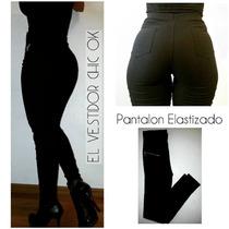 Pantalon Calce Perfecto Con Spandex Elastizado Tiro Alto
