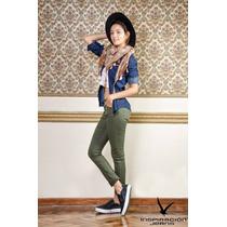 Pantalon Gabardina Elastizado Colores Varios Talle 38 Al 54