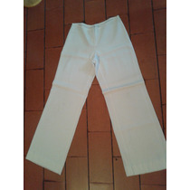 Pantalón Blanco Vintage T M.botamanga Ancha.caida.medidas