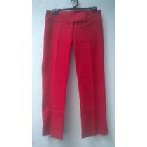 Pantalon Recto De Mujer Tiro Bajo Marca Tucci Talle M