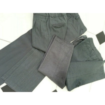 Lote De 4 Pantalones Sarga Colegio