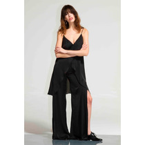 Pantalon De Seda Con Tajos Laterales Paris By Flor Monis