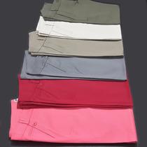 Pantalones Gabardina Semi Elastizados, Mujer