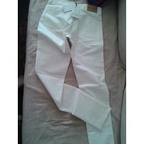 Pantalón Blanco Gabardina Con Glitter Blanco Super Fino