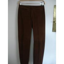 Pantalon Cuero Cabrito Gamuzado Dama M ¡impecable!