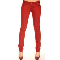 Pantalon Chupin Mujer Rojo - Envio A Todo El Pais