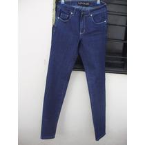 Jean Mujer By Deep Talle 38 Azul Oscuro Elastizado