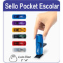 Sellos Pocket Escolar Automatico Nombre Sin Cargo Oferta!!!