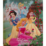Carpeta Escolar Num 3 Disney Princesas Retro C Tres Anillos
