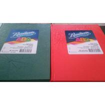 Cuaderno Abc Rivadavia,2 Rojo Cuadriculado,2 Verde Rayado