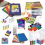 Canasta Escolar 45 Articulos Cuadernos Lapices Marcadores