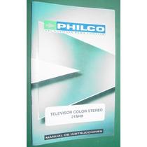Manual Usuario Televisores Philco Publicidad 21m49