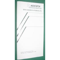 Manual Usuario Telefono Celular Portatil Audiovox Publicidad