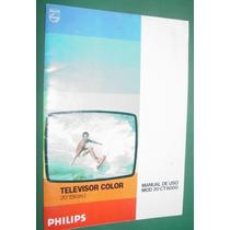 Manual Usuario Televisores Philips Color Ct6000 Publicidad