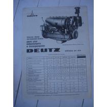 Antiguo Folleto Motor Deutz Licencia Deca-argentina