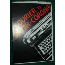 Manual Usuario Maquina Escribir Courier Smith Corona Ingles