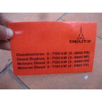 Deutz-folleto-modelos Y Datos Tecnicos De Motores Diesel