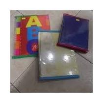 Funda Cuadernos (abc) Pvc Cristal Con Cinta Al Bies Colores