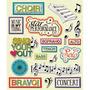 Plancha De Stickers Tridimensionales Música Choir K&company